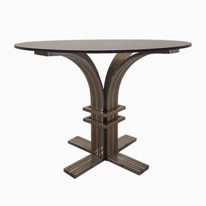 Vintage Brass & Steel Table by Romeo Rega