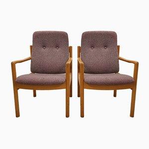 Dänische Vintage Armlehnstühle, 2er Set