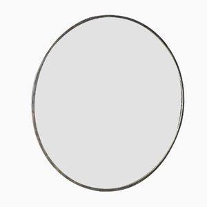 Mid-Century Round Industrial Mirror