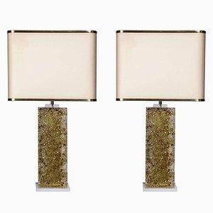 Bases de lámpara de mesa vintage de metacrilato de Maison Roméo. Juego de 2