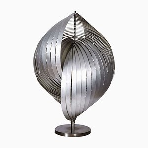 Sculptural Steel Table Lamp, 1970s