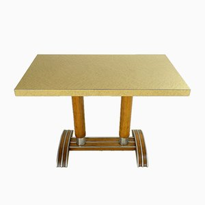 Art Deco French Bistro Table from W Baumann Colombier Fontaine, 1940s