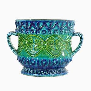 Jarrón de suelo de cerámica de Bay Keramik, años 60