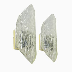 Vintage Plexiglas Sconces, Set of 2