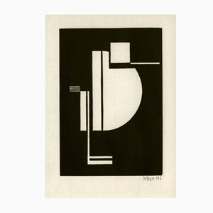 Affiche Woodcut par Walter Dexel pour Panderma, 1977