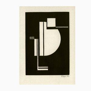 Holzschnitt Druck von Walter Dexel für Panderma, 1977