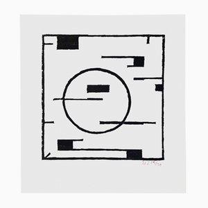 Woodcut par Erich Buchholz pour Panderma Editions, 1977