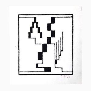 Xilografía de Erich Buchholz para Panderma Editions, 1977