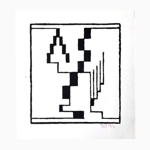 Xylographie par Erich Buchholz pour Panderma Editions, 1977
