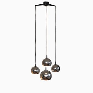Mid-Century Pendant with Four Chrome Balls