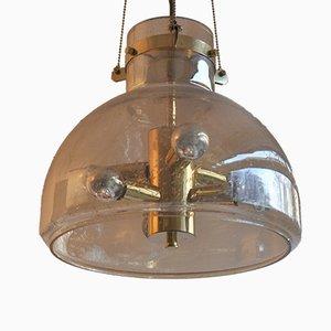 Große mundgeblasene Glas Deckenlampe von Doria Leuchten, 1960er