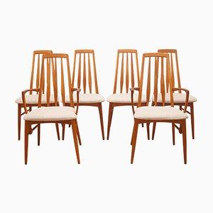 Chaises de Salle à Manger Eva par Niels Koefoed pour Koefoeds Hornslet, 1960s, Set de 6