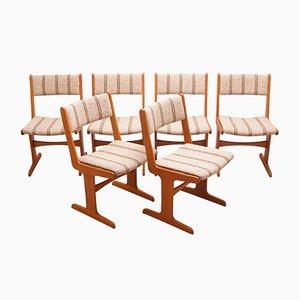 Skandinavische Vintage Esszimmerstühle von Farso Stolefabrik, 6er Set