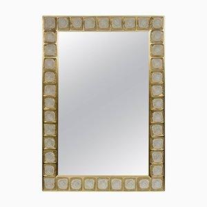 Specchio vintage con cornice in ottone