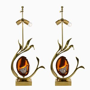 Pieds de Lampe de Bureau Sculpturaux Vintage par Willy Daro, Set de 2