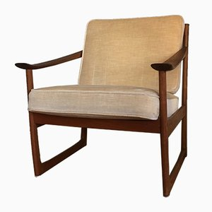 Model FD130 Teak Armchair by Peter Hvidt & Orla Mølgaard-Nielsen for France & Søn, 1960s