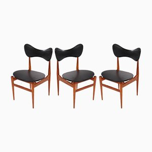 Butterfly Chairs by Inge & Luciano Rubino for Sorø Stolefabrik, 1960s, Set of 3