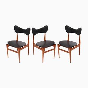 Butterfly Chairs von Inge & Luciano Rubino für Sorø Stolefabrik, 1960er, 3er Set