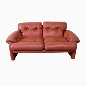 2-Sitzer Leder Coronado Sofa von Tobia & Afra Scarpa für B&B Italia, 1970er