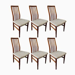Danish Teak Dining Chairs from O.D. Møbler, 1960s, Set of 6