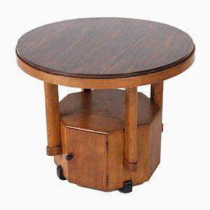 Tavolino da caffè Scuola dell'Aia in quercia ed ebano, anni '20