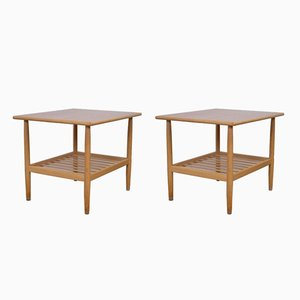 Mid-Century Danish Side Tables in Oak by Ejvind A. Johansson for FDB, Set of 2