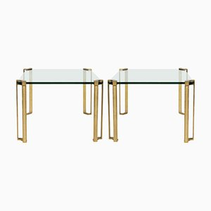 Bronze Side Tables by Peter Van Heeck, 1970s, Set of 2