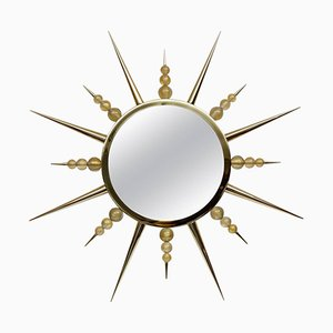 Vintage Murano Glass Sunburst Mirror