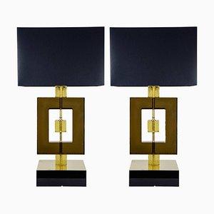 Lampes Vintage en Verre Murano, Set de 2