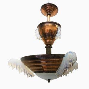 Art Deco Deckenlampe von Ezan, 1920er