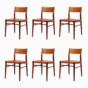Vintage 351/3 Dining Chairs by Georg Leowald for Wilkhahn, Set of 6