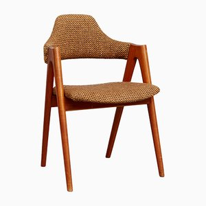 Silla compás danesa vintage de teca de Kai Kristiansen para SVA Møbler