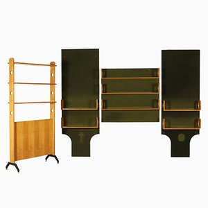 Storage Unit Set in Mahogany Veneer, 1960s