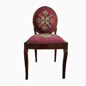 Chaise d'Appoint Brodée Charles X Antique