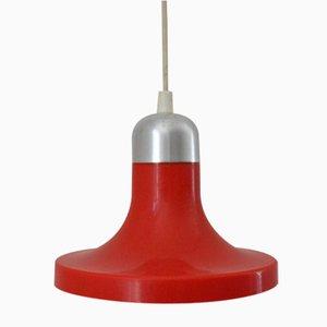 Lámpara colgante roja de Kuspi, años 70