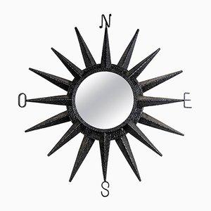 Vintage Schmiedeeisen Spiegel von Atelier Marolles