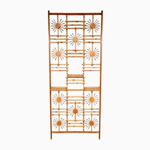 Mid-Century Bamboo Wall Unit or Room Divider