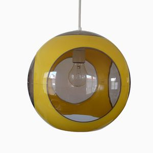 Spage Age Yellow Ceiling Lamp by Luigi Colani, 1970s