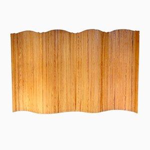 Großer aufrollbarer Raumteiler aus Holz von Baumann, 1950er