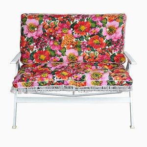Panchina Mid-Century floreale di Kurz Gartenmobel, anni '60