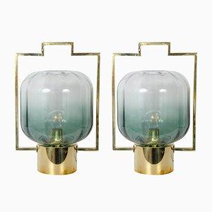 Lampes de Bureau en Verre Murano, 1980s, Set de 2