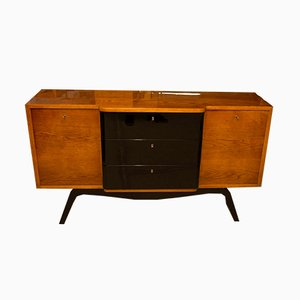 Art Deco Bohemian Oak Sideboard, 1930s