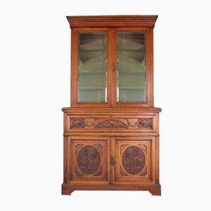 Victorian Carved Walnut Secretaire