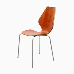 Danish Teak Plywood Chair, 1960s