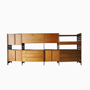 Mueble modular de pared Ladderax Mid-Century de Robert Heal para Staples of Cricklewood, años 60