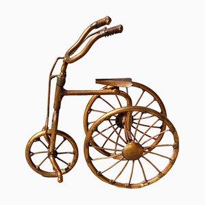 Miniatur Messing Dreirad von Daniel D'Haeseleer, 1970er