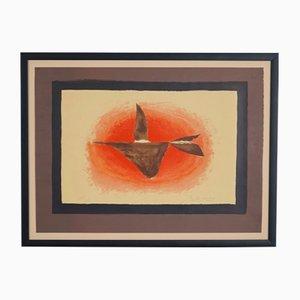 Lithographie Au Couchant par George Braque, 1958