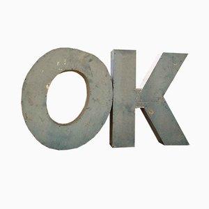 Industrielle Vintage OK Buchstaben