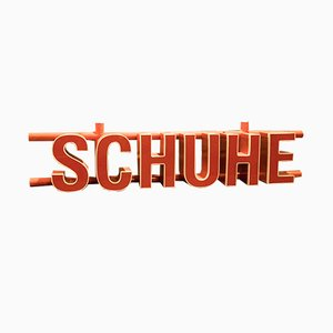 Vintage Industrial Neon Schuhe Sign