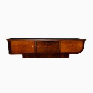 Functionalist Art Deco Oak and Walnut Veneer Sideboard, 1930s